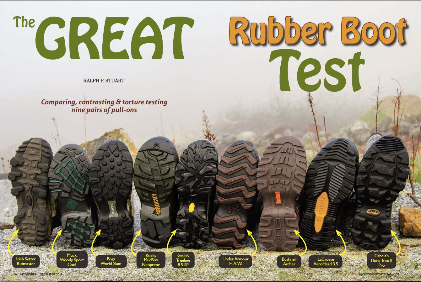 ec74694aa25 The Great Rubber Boot Test - Shooting Sportsman