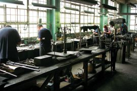 people working in a factory