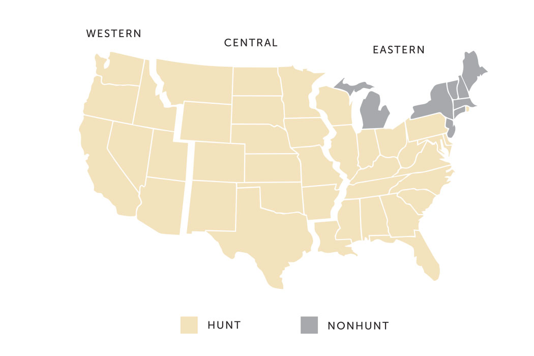 Map of dove hunting states