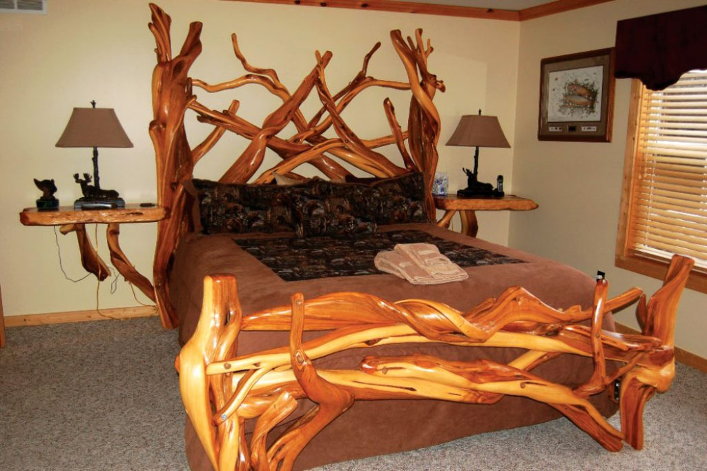 bed with tree-like frame