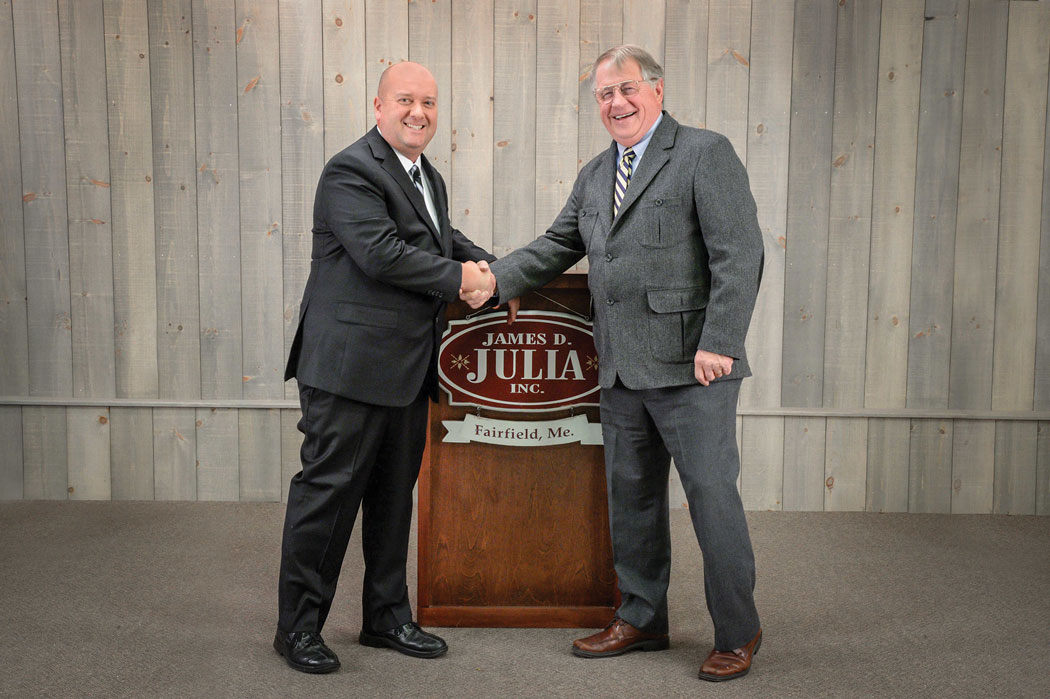 Dan Morphy (left) and Jim Julia recently merged their auction houses.
