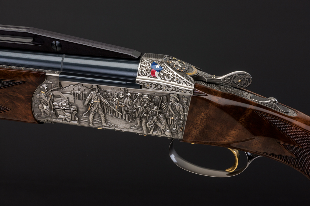 deep-relief scenes from the Alamo on a Krieghoff