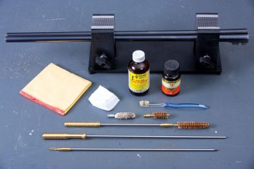 Tools for routine cleaning and maintenance include a rod, bore and chamber brushes, patches, solvent, oil, a bore mop, a toothbrush and clean, lint-free cloths.