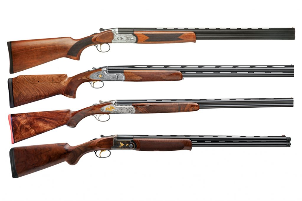 From left: Syren Elos D2, Browning Citori Gran Lightning, Weatherby 18i Deluxe.