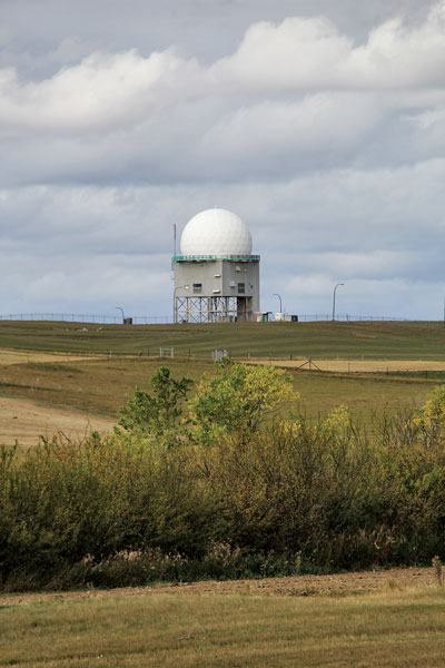 """The Golf Ball"" no longer serves to detect Soviet attacks but still stands watch on  the prairie."